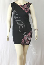 WOMENS CLOTHING SEXY BLACK & PINK LACE SPLICE PARTY DRESS INCL PLUS SIZES
