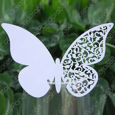 50 Laser Cut Butterfly Wedding Place Name Cards/Table Cards Wedding Party Favors