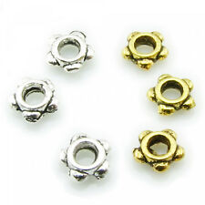 50 Spacer beads 4mm silver gold Flowers Flower small tiny sweet Spacer Ornament