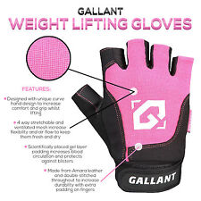 Gallant Ladies Gel Weight Lifting Gym Gloves Body Building Training Pink Womens