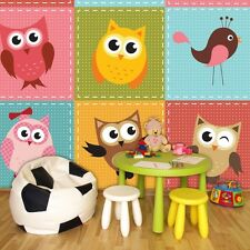 PHOTO WALLPAPER MURALS DECORATIONS NON WOVEN HOME ART NEW OWLS KIDS ROOM 1035VE