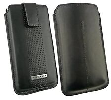 Original Hugo Boss Black Leather Case Cover Pouch Pull Tab fits Orange San Diego