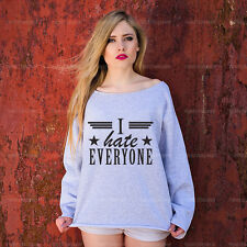 Slogan Sweatshirt Jumper - I hate everyone - American Vintage Street Style Top