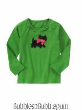 Gymboree NWT Girls Cheery all the way Green scottie dog shirt new size 4 5