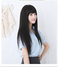New Hot Fashion Sexy Long Straight Party Women Lady Girl Full Hair Cosplay Wig
