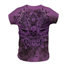 BULLET FOR MY VALENTINE - GUNS SKULL - OFFICIAL WOMENS T SHIRT