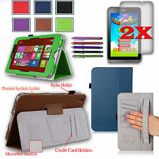 PU Leather Stand Cover Case w/ Hand Strap For Acer Iconia W4-820 + Accessories