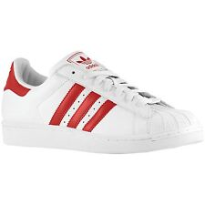 Adidas Superstar II White Red Mens Trainers G43681
