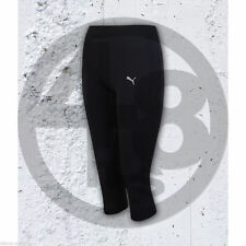 PUMA WOMENS CORE 3/4 LEGGINGS RUNNING PANTS PRO COOL CELL TECH CROPPED TIGHT