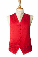 MENS AND PAGE BOYS RED MEDINA WEDDING DRESS SUIT VEST PARTY WAISTCOAT ALL SIZES