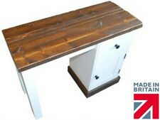 Solid Pine Dressing Table, White Painted & Waxed Rustic, Rough Sawn Unit