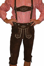 German Bavarian Oktoberfest Trachten Knee Length Lederhosen - All Sizes #SEPPL