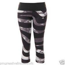 Adidas Women Techfit Perfect 3/4 Leggings Performance Sz Large Black/Wht G71917