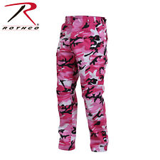Pink Camouflage 6-Pocket Military Poly/Cotton BDU Cargo Fatigue Pants 8670