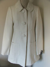 PRIMARK ATMOSPHERE CREAM BUTTON DOLLY MILITARY JACKET COAT-SIZE UK 8 10-BNWT