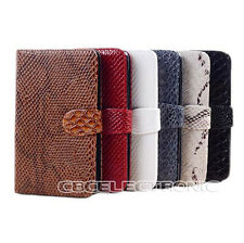 For Samsung Galaxy S2 S3 Snake Skin Wallet case holster