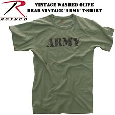 "OD GREEN Army Vintage Military ""  ARMY "" T-Shirt 66400"