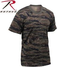 Tiger Stripe Camouflage Tactical Military Short Sleeve T-Shirt 6787