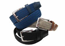 4001 NYLON BRAIDED STRETCH BELT FOR MEN IN SIX COLORS & 6 SIZES TO FIT MOST
