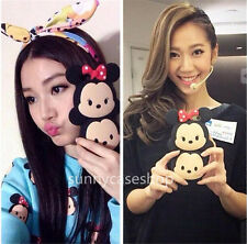 New Cute bow minnie mickey Silicone soft Case cover for iphone 7 6 plus samsung