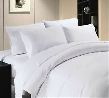 High Quality 800 1000 1200 1500 TC Thread Count Hotel Bedding White Solid Sets