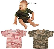 ARMY NAVY AIRFORCE MARINES USMC Camouflage Short Sleeve Infant T-Shirt Only