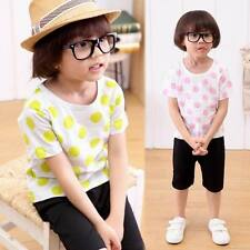 STO Cute Toddler Children Unsex Models Short Sleeved Suit Harlan Style Big Dot