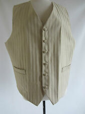 mens waistcoat cream striped Victorian Edwardian gentleman Steampunk button down