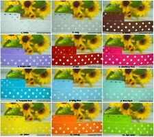 """♕●☆ 5 YARDS HOLE STAMPED PATTERN GROSGRAIN RIBBON 1"""" INCH 25MM - 12 COLORS ♕●☆"""