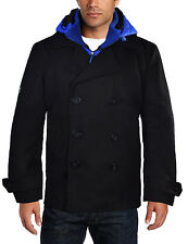 Superdry Men's Ultra Commodity Peacoat-Black/Blue