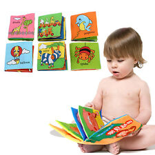 Funny Easy Soft Cloth Baby Intelligence Development Learn Picture Cognize Book