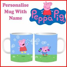 New Peppa & George Pig Mugs Personalised Birthday Tea Cups Special Gift Children