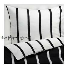 IKEA Duvet Quilt Cover Set Black White TUVBRACKA in Twin Full Double Queen King