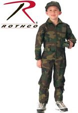 Kid's Flight Suit Air Force Flight Suit Coveralls Woodland Camouflage 7308