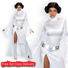 Adult Sexy Princess Leia Ladies Fancy Dress Costume Star Wars Licensed