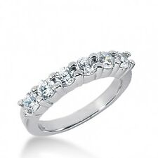 1.10CT Certified Women's Brilliant Cut Diamond Wedding Band Ring 18kt White Gold