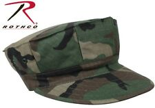 Woodland Camouflage Military Style Marine & Navy 8 Point Fatigue Hat Cap 5633