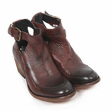 H By Hudson Women's Ceres Calf Leather Buckle Ankle Boot Brown