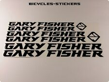 GARY FISHER Set Of Decals Stickers Restoration Frame Bicycles Bikes Helmets 401B