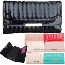 Ladies Designer LYDC Large Quilted Patent Faux Leather Purse Boxed Wallet PL123