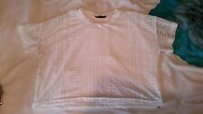White t-shirt style crop top size 12
