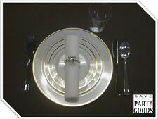 Bone/Gold Full Table Settings Plates-Cups-Reflection Cutlery Wedding Special