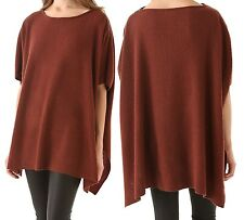 NWT $325 Vince Wool Cashmere Ribbed Poncho