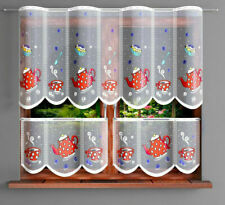 VALANCE CAFE NET CURTAIN -TWO SIZES - SOLD BY METERS