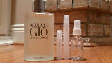 ACQUA DI GIO GIORGIO ARMANI 5ml 10ml 30ml ATOMIZER, SAMPLE TRAVEL SPRAY Cologne