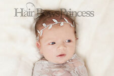 Newborn Silver Leaf Headband TIARA,CROWN Headband Baby Christmas photo prop