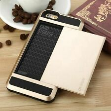 Card Pocket Extream ShockProof Slim Hybrid wallet case cover for iPhone 6 6 Plus