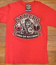 Sons of Anarchy SAMCRO Men of Mayhem Tee T-Shirt Licensed SOA Merchandise Reaper