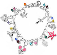 OVER 50+ Ideas! 925 S Silver Add On Theme Charms w Lock To Bracelets Neacklaces