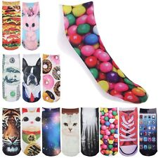 Multiple Colors Harajuku 3D Printed Cute Unisex Cotton Cartoon Socks For gift